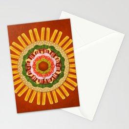 Bacon Cheeseburger with Fries Mandala Stationery Cards
