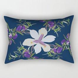 2941-AppleBerry-Iris.P1.Blue Rectangular Pillow