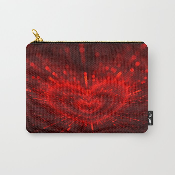 Cupid's Arrows   Valentines Day   Love Red Black Heart Texture Pattern Carry-All Pouch