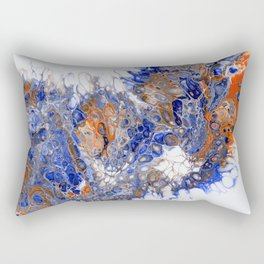 Team Splash, Orange and Blue Rectangular Pillow