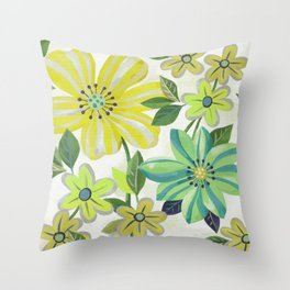 Scattered Flowers Throw Pillow