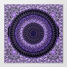 Purple Tapestry Mandala Canvas Print