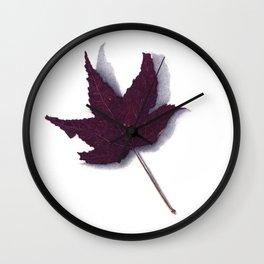 Sweet Gum Leaf Watercolor Wall Clock