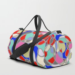 Stain Glass Abstract Meditation Painting 1 Duffle Bag
