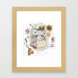 Pumpkin Blue Pixie Framed Art Print