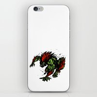 street fighter iPhone & iPod Skins featuring Blanka Rush! - Street Fighter by Peter Forsman