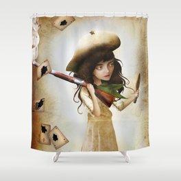 The Little Sharpshooter Shower Curtain