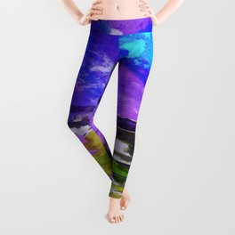 Art Abstraction 1F by Kathy Morton Stanion Leggings