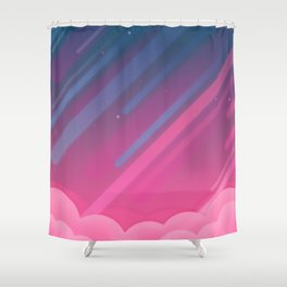 Cloudy Starred Sky Shower Curtain