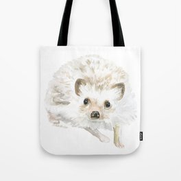 Watercolor Hedgehog Painting - Woodland Animal Art Tote Bag