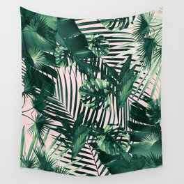 Tropical Jungle Leaves Siesta #1 #tropical #decor #art #society6 Wall Tapestry