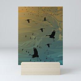 Sandhill Migration Mini Art Print