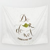 sith Wall Tapestries featuring Do or do not there is no try by Earthlightened