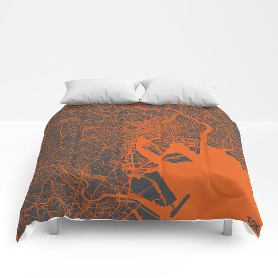 Tokyo Map #2 Comforters