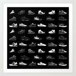 Black Sneaker Art Print