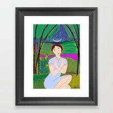 Night Meditation Framed Art Print