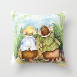 Friendly Vacation Throw Pillow
