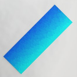 Electric Blue Ombre flames / Light Blue to Dark Blue Yoga Mat