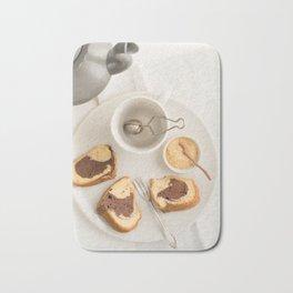 Slice of marble cake Bath Mat