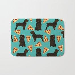 Boykin Spaniel pizza cheesy slice funny dog art pet portrait dog breed custom portraits art Bath Mat