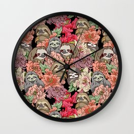 Because Sloths Wall Clock