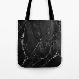 Black Marble Print II Tote Bag