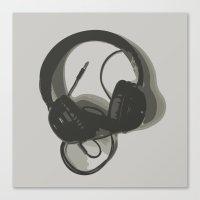 headphones Canvas Prints featuring Headphones by GoAti