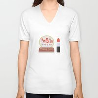 makeup V-neck T-shirts featuring Makeup Guru by PhraseCrowd