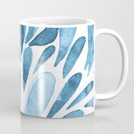 Watercolor artistic drops - blue Coffee Mug