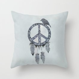 A dreamcatcher for peace Throw Pillow