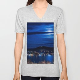 Everything That He Sees is Blue, A Painting by Jeanpaul Ferro Unisex V-Neck