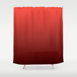 Gradient Collection - Deep Strawberry Red Shower Curtain