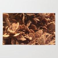 oklahoma Area & Throw Rugs featuring Oklahoma Gypsum  by UMe Images