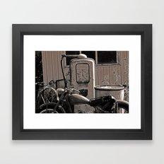 Motorcycle Shabby Framed Art Print