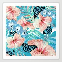 Tropical Spring Aqua Art Print
