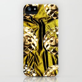 gold vintage earrings coco iPhone Case