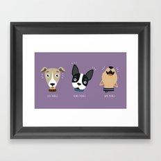 Three wise dogs Framed Art Print