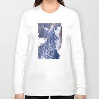 oil Long Sleeve T-shirts featuring Zebra Oil by Heidi Fairwood