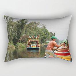 Xochimilco Along the Canal Rectangular Pillow