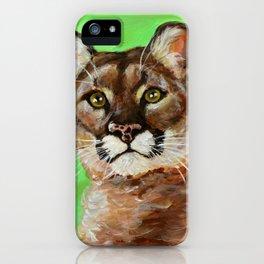 Reise Cougar Youthful Eyes iPhone Case