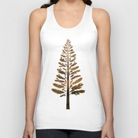 arya Tank Tops featuring Feather Tree in warm colours by Hinal Arya
