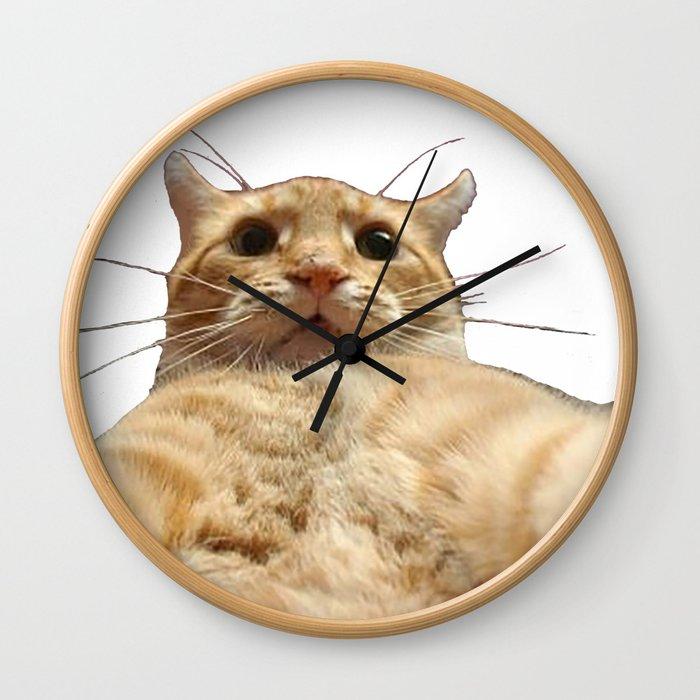 Cat Selfie Wall Clock