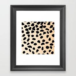Leopard animal print Framed Art Print