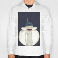 jaws Hoodies featuring JAWS by delusionARTgallery