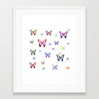 butterflies Framed Art Prints featuring Butterflies. by haroulita