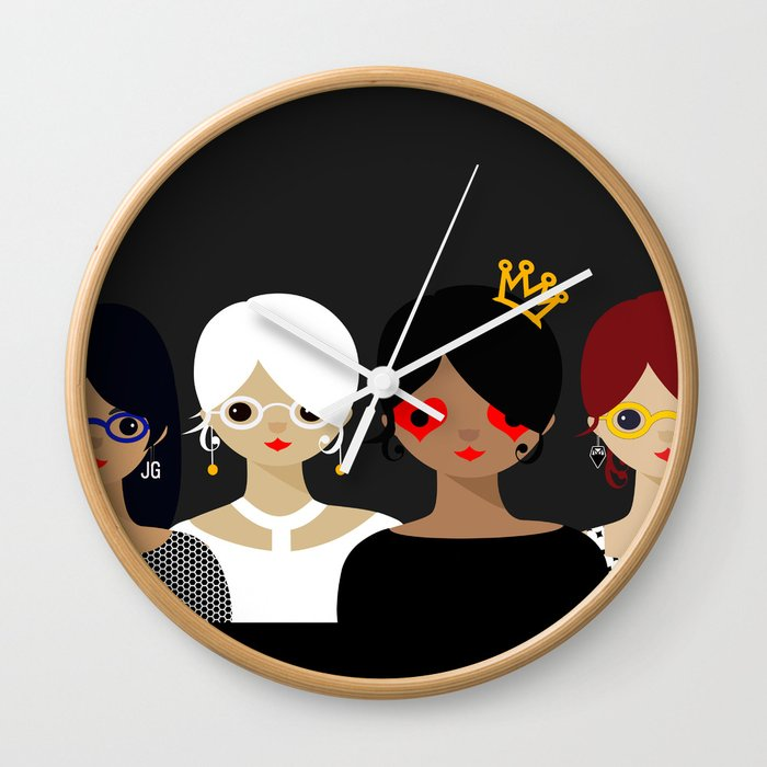 Girls Night Out- GLAD TO FINALLY SEE YOU Wall Clock by jgurantz ...