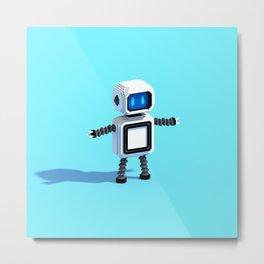 V-Bot Metal Print