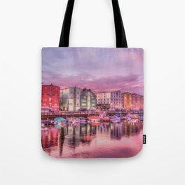 Norway Harbor Sunrise Photo Tote Bag
