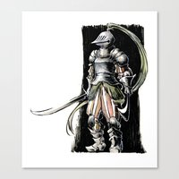 knight Canvas Prints featuring Knight by Vagelio