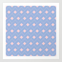 Serenity and Rose Quartz Geometric Art Print